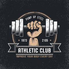 Grunge gym logo