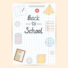Back to school design. School flyer.