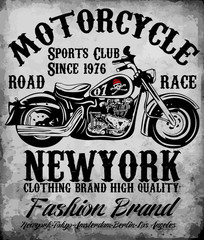 Motorcycle tee graphic
