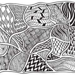 Hand drawn doodle, zentangle, design element, decoration.
