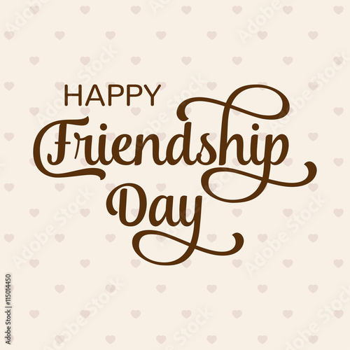Happy Friendship Day Greeting Card. For Poster, Flyer, Banner For