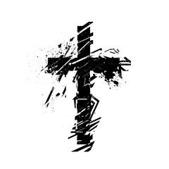 Vector christian cross symbol