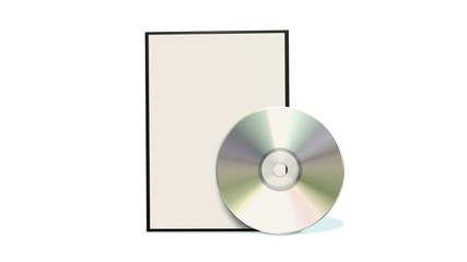 DVD / CD box with disc isolated on white