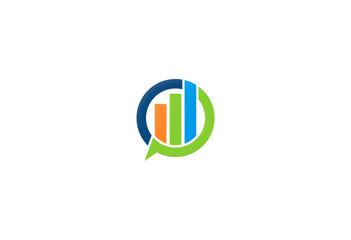 colored business finance progress logo