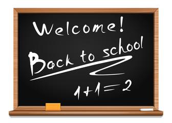 Blackboard. Back to school. Vector illustration