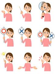 女性の9種類の仕草と表情