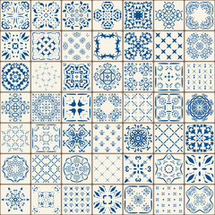 Mega Gorgeous seamless patchwork pattern from colorful Moroccan tiles, ornaments. Can be used for wallpaper, fills, web page background,surface textures.