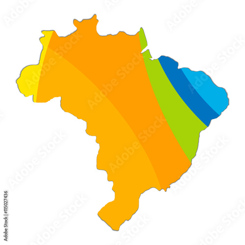 Topographic Map Colors Of Brazil Stock Image And Royalty Free