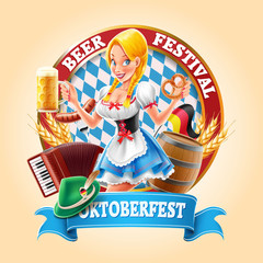 beer festival banner with sexy girl