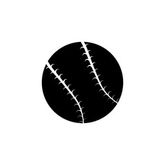 Ball baseball icon. Black icon on white background.
