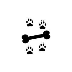 Bone icon. Black icon on white background.