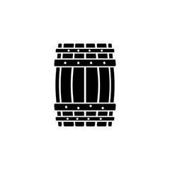 Barrel icon. Black icon on white background.