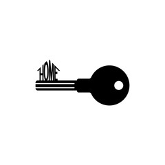 Key icon. Black icon on white background.