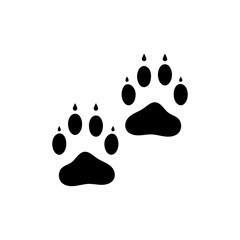 Paw icon. Black icon on white background.