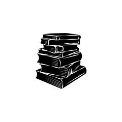Book icon. Black icon on white background.