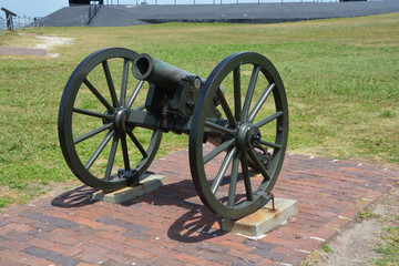 Canon Fort Sumter is a sea fort in Charleston notable for 2 battles of the American Civil War. was one of a number of many special forts planned after the War of 1812