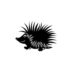 Hedgehog icon. Black icon on white background.