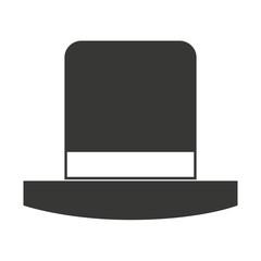 gentleman hat isolated icon design