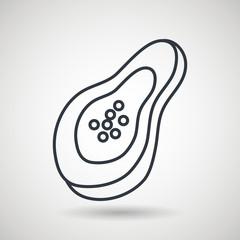 papaya drawing isolated icon design, vector illustration  graphic
