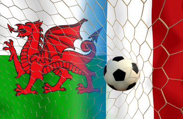 Final round between the football national team Welsh and nationa