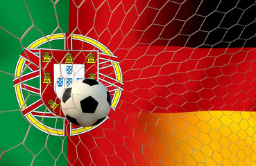 Final round between the football national team Portugal and nati