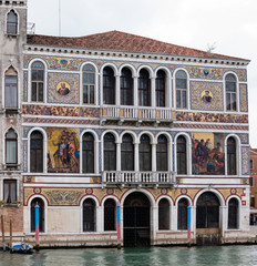16th century Palazzo Barbarigo is one of the more opulent palaces on the Grand Canal, distinguished by its mosaics of Murano glass applied in 1886.