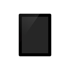 Tablet on white background vector illustration