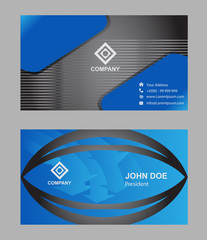 Business card template, vector design editable