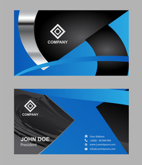 Abstract professional designer business card template or visiting card set