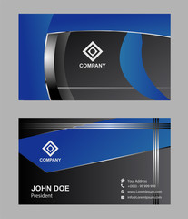 Abstract professional and designer business card template