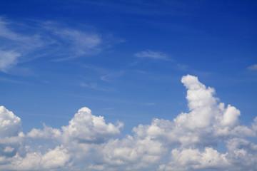Beautiful blue sky