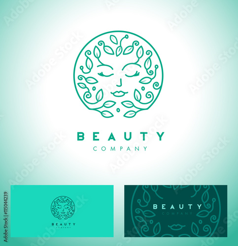 Abstract beauty symbol for hair salon or organic for Abstract beauty salon