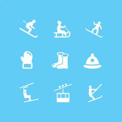 Winter Ski Icons