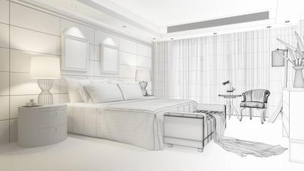 CAD Planung von Raum im Hotel
