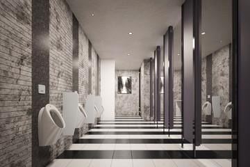 Öffentliches WC mit Urinalen