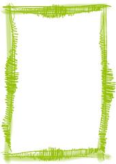 grüner Rahmen gemalt mit Pinselstrichen