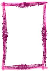 pink rosa Rahmen gemalt mit Pinselstrichen