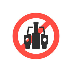 prohibition sign no drink driving