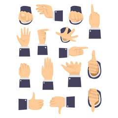 Vector Illustration of Different Hand Gesture