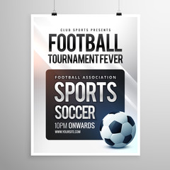 football tournament flyer invitation template