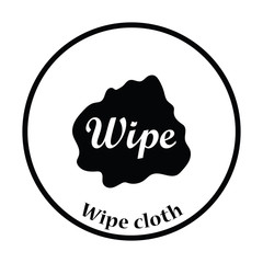 Wipe cloth icon