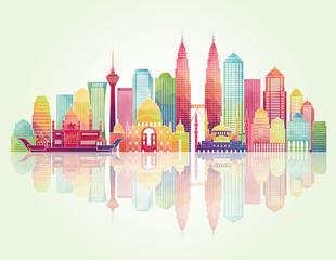 Kuala Lumpur detailed silhouette. Vector illustration
