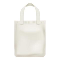 Eco textile tote bag vector illustration.