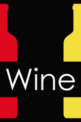 Icono plano Wine y botellas sobre fondo degradado negro #2