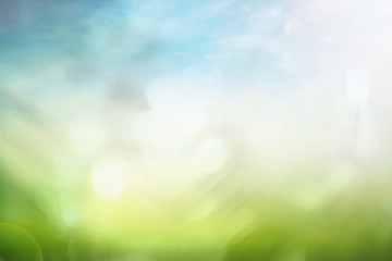 World environment day concept: Bokeh light and abstract blurred nature background