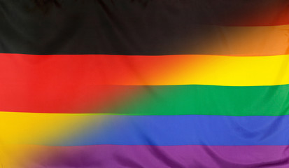 Rainbow Flag merged with Flag of Germany