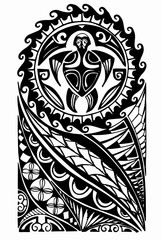 Maori half sleeve tattoo