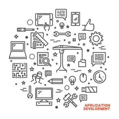 Vector line concept for application development