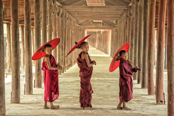 Happiness of Novice in Burma