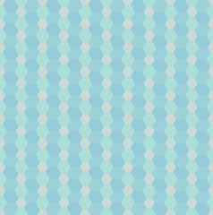 Seamless vector pattern with blue rhombs and hexagons. Can be used as background for business cards, banners or prints.